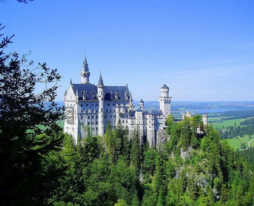 bavaria,castle,disney,europe,serene