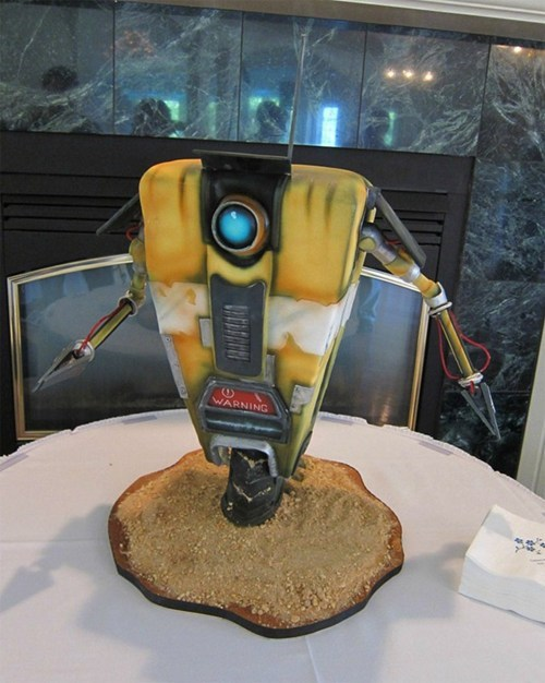 borderlands,cake,claptrap,design,video games