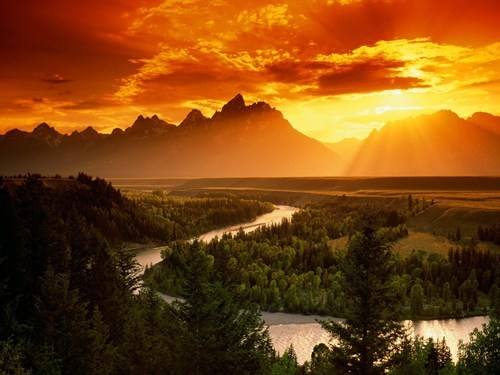 landscape river snake river sunrise sunset - 6599514880
