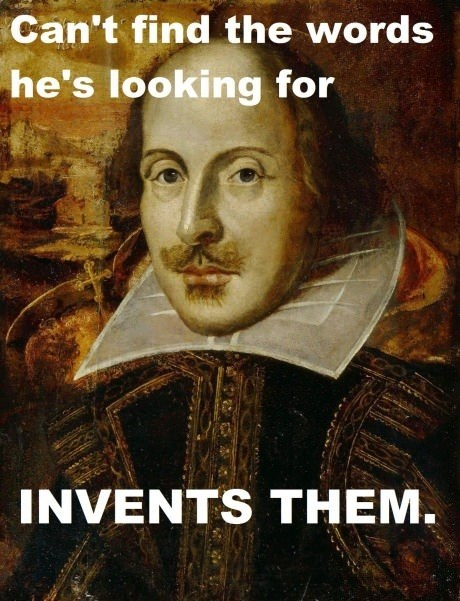 inventor,shakespeare,words,writing