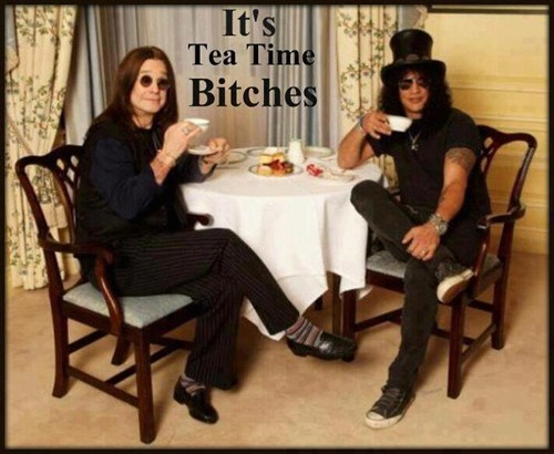 Ozzy Osbourne slash tea