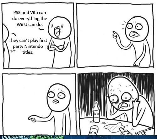 console wars fanboys meme nintendo playstation Sad - 6599800832