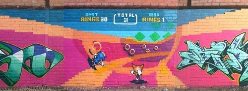 hacked irl,nerdgasm,sonic the hedgehog,Street Art,video games