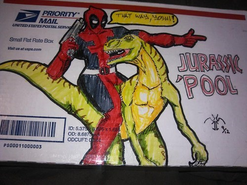 comic books,deadpool,mail,nerdgasm,postage,super heroes,work