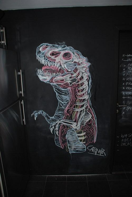 art blackboard dinosaur doodle - 6599835648