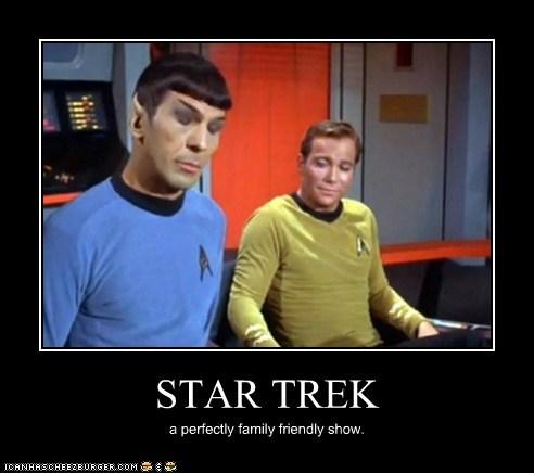 Leonard Nimoy Shatnerday Star Trek William Shatner Captain Kirk Spock family friendly show Staring - 6599881216