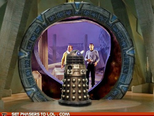 Star Trek Stargate doctor who dalek mash up William Shatner Leonard Nimoy - 6599917312
