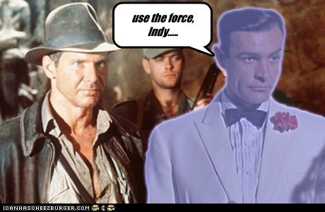 Indiana Jones star wars james bond sean connery george lucas the force ghost Harrison Ford