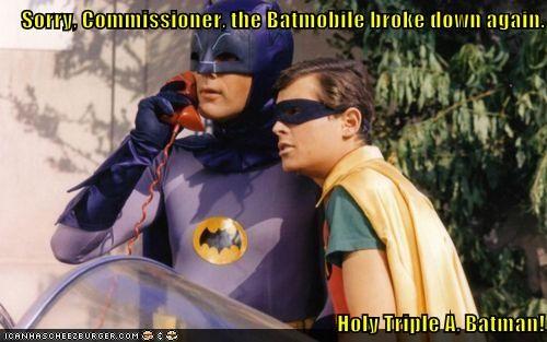 batman robin Adam West burt ward commissioner gordon batmobile - 6600021504