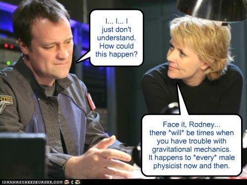 Stargate Stargate SG-1 amanda tapping samantha carter rodney mckay david hewlett disappointed science physicist happens to a lot of guys - 6600101888
