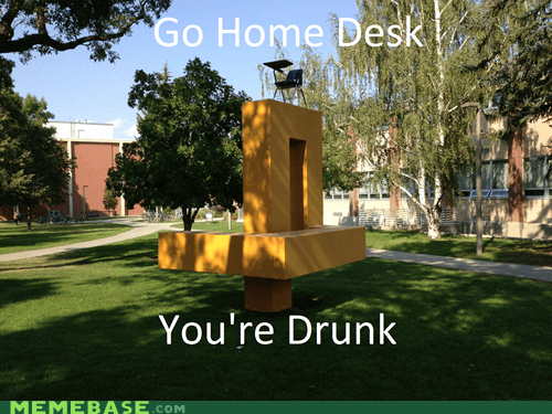 art desk drunk sculpture youre-drunk