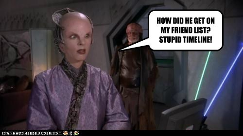 Babylon 5 Dlenn Minbari Mira Furlan facebook timeline friends how