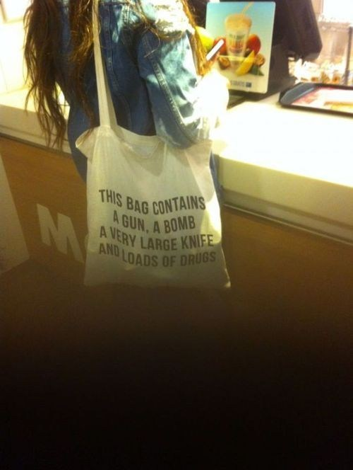 bomb,drugs,tote bag