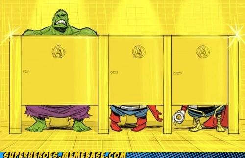 captain america hulk poop Thor toilets - 6601707008