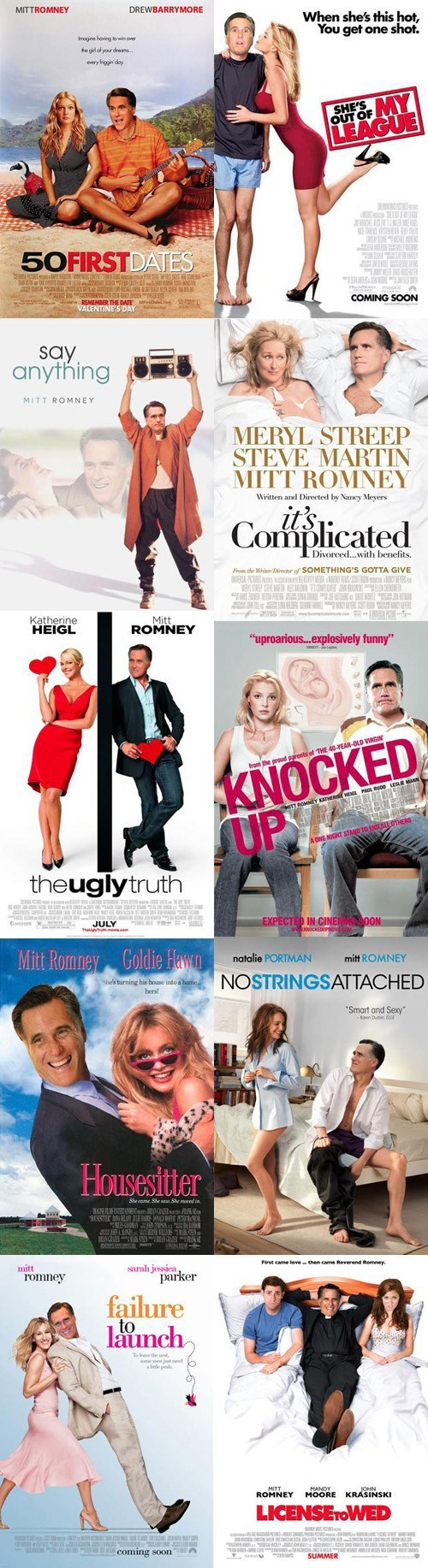 Mitt Romney,movies,posters,romantic comedies
