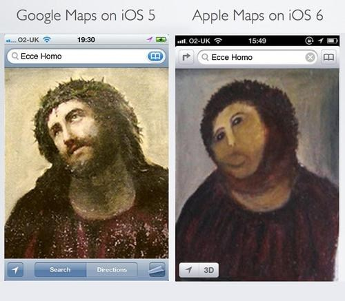 accurate,apple maps,ecce homo,google maps