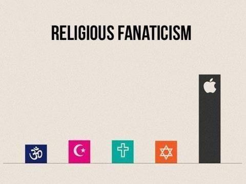 apple,bow down,capitalism,religious fanaticism