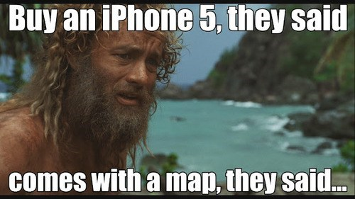 apple maps castaway google maps ios 6 where am i - 6601952256