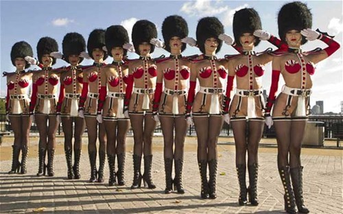 british guards,sexy babes