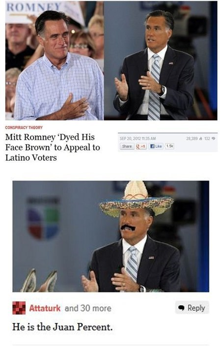 genius,Mitt Romney,politics,pun,the one percent