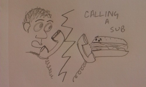 calling,double meaning,literalism,sandwich,sub,substitute,Subway