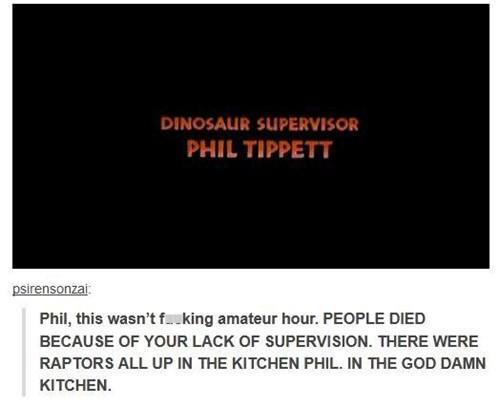amateur hour dinosaurs jurassic park phil tippett - 6602033408