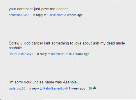 cancer uncle youtube youtube comments - 6602052608