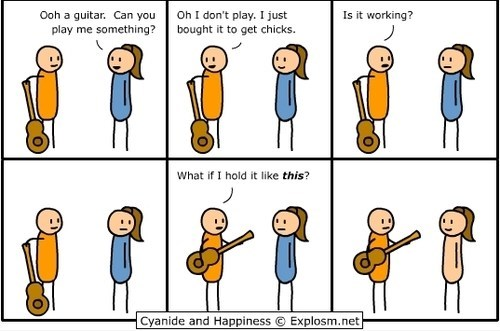 comic cyanide & happiness cyanide-happiness girls guitars - 6602057472