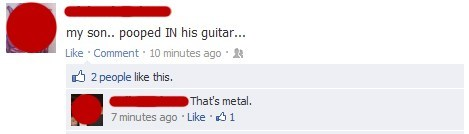 facebook,guitar,metal,poop