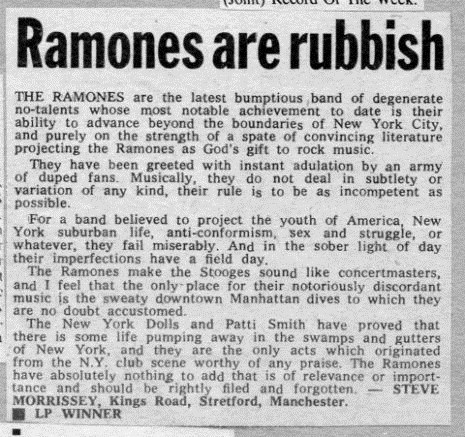 morrissey music review ramones