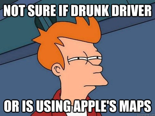 apple,apple maps,Futurama Fry,ios 6,iphone 5,not sure if