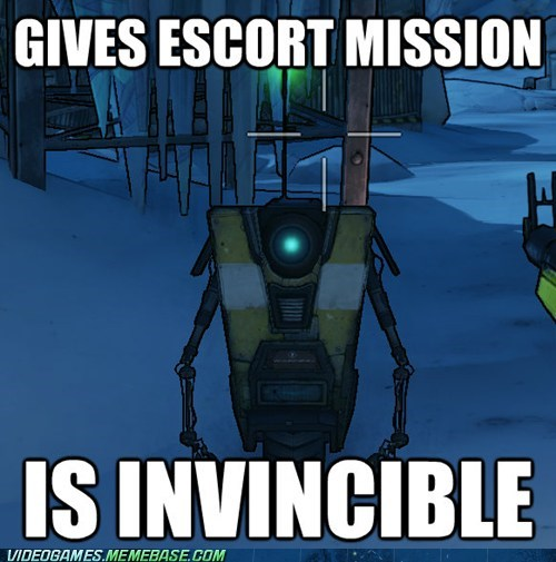 borderlands 2,claptrap,escort mission,invincible