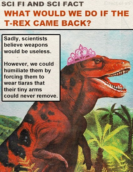 problem solved,science,tiaras,t rex