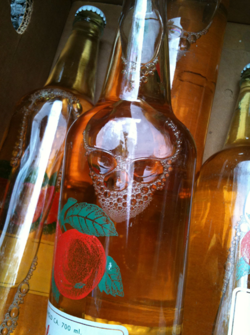 liquor poisoned skull