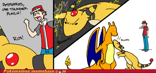 Ampharos,Battle,thunder punch