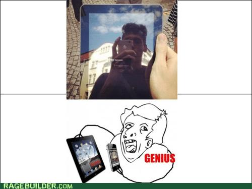 selfie ipad genius funny