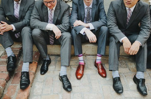 black black sheep brown fashion groom Groomsmen men shoes - 6602771968