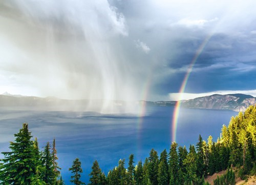 best of week,camping,crater lake,Hall of Fame,mother nature ftw,rainbow,storm