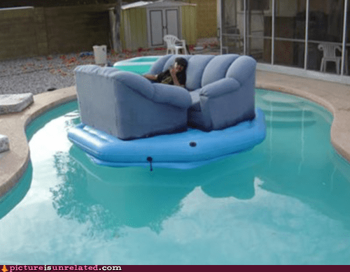 couch nice things pool water
