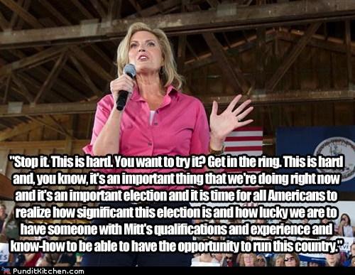 Ann Romney,complaining,hard,lucky,Mitt Romney