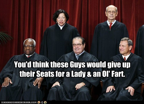 You'd think these Guys would give up their Seats for a Lady & an Ol' Fart.