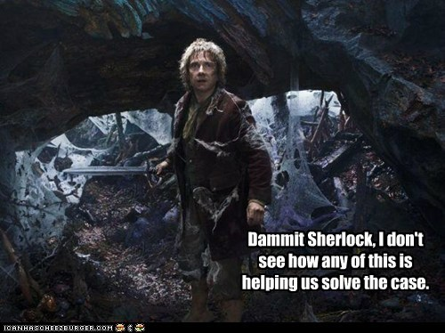 The Hobbit Bilbo Baggins Martin Freeman Sherlock dammit case - 6603559680