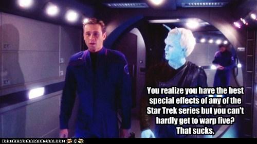 special effects Connor Trinneer warp enterprise Trip Tucker Star Trek - 6603601664