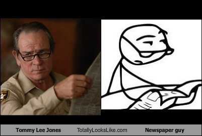actor celeb funny meme newspaper guy TLL tommy lee jones - 6604234752