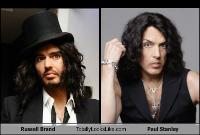Russell Brand Totally Looks Like Paul Stanley