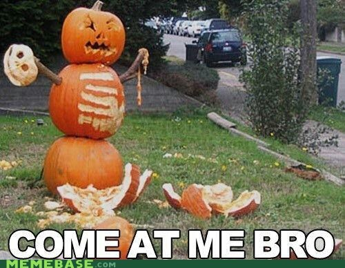 bro,come at me,pumpkins,snowman