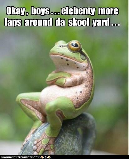 teacher laps frog - 6604566528