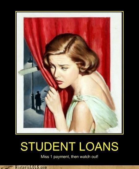 curtain loan companies stalker student loans window woman