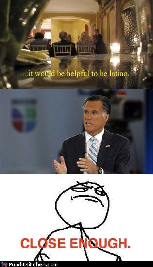 Mitt Romney quote helpful latino Univision self tanner Close Enough categoryimage - 6604731136
