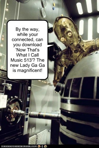 r2d2,Music,star wars,c3p0,lady gaga,download,magnificent